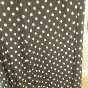 Chico's Pants - Chico's Size 2 Brown Polka Dotted Palazzo Pants